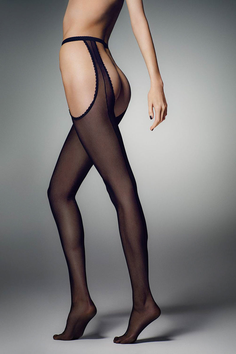 Veneziana Riga Strip Panty Suspender Tights