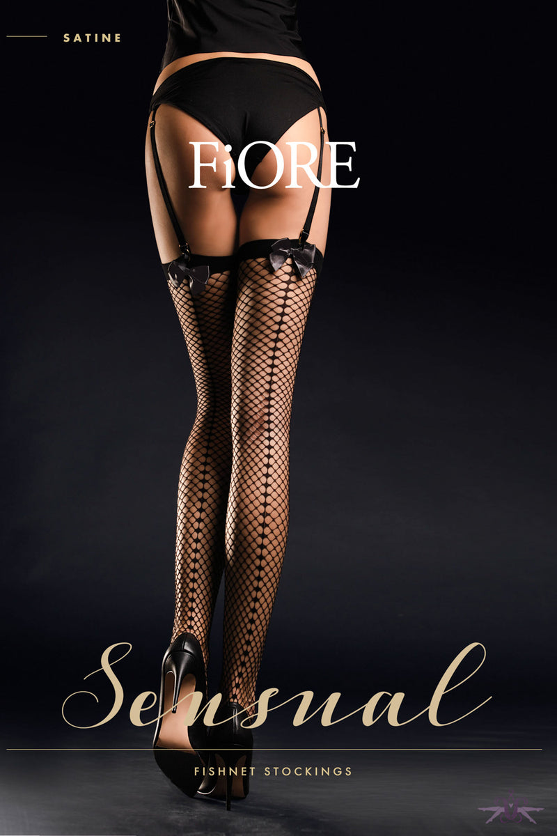 Fiore Satine Fishnet Stockings
