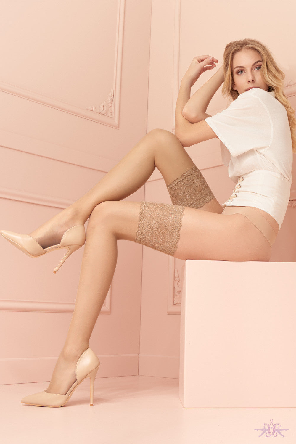 Trasparenze Voile Hold Ups - Mayfair Stockings