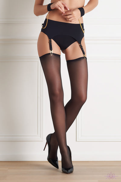 Maison Close Sheer Cut and Curled Stockings - Mayfair Stockings