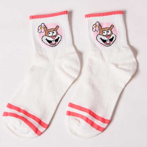Fashion Cartoon Character Cute Short Socks Women