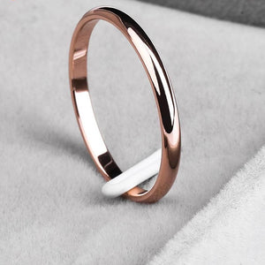 Titanium Steel  Rose Gold  Anti-allergy Smooth