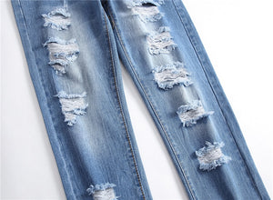 Men Holes Jeans European High Street
