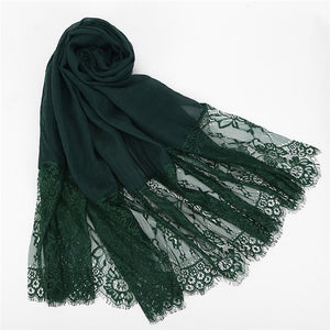 lace scarf hijab woman plain maxi
