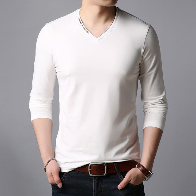 Men V Neck Trending Streetwear Tops
