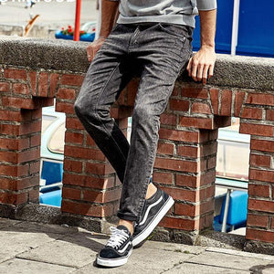 Autumn Jeans Men Casual Slim Trousers