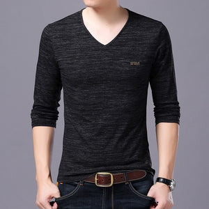T Shirts Men V Neck Tops