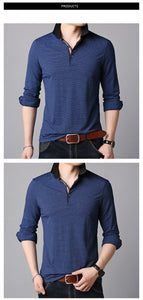 Polo Shirts Men Solid Color