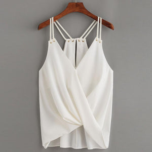 Casual Crop Sleeveless Top Vest Tank Cami