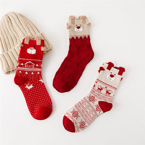 Christmas Women Cotton Sock
