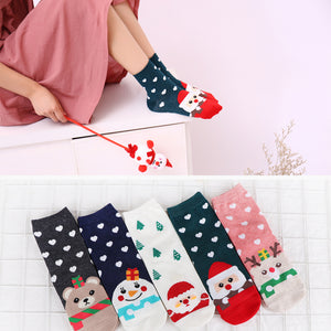 Christmas Santa Claus Socks Women