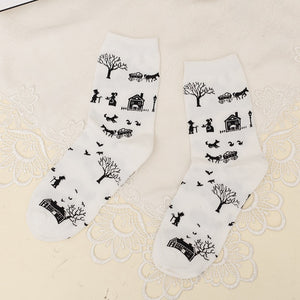 Christmas Women Female Cotton Socks