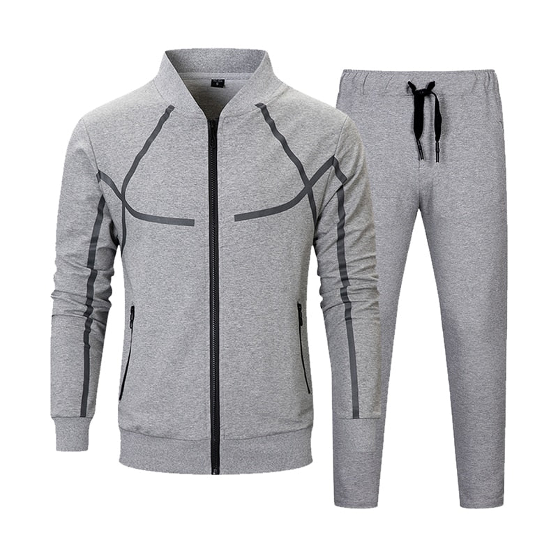 Men Set Casual Fashion Jacket
