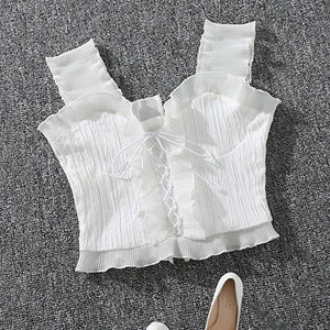 Summer Autumn Bustier White Black Tank Top
