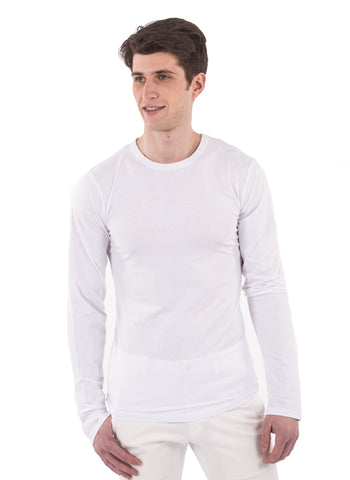 70% Bamboo Mens Long Sleeve Crew Neck