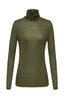 Ribbed Turtleneck Top Silk Cotton Blend
