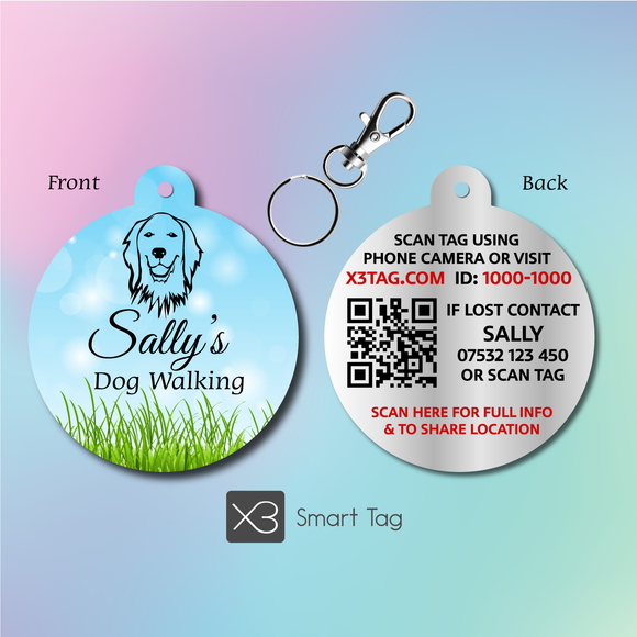Dog Walkers, Boarders + Day Care - Your Logo - Pet ID Tag