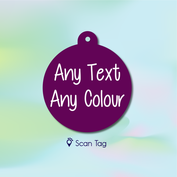 Any text, Any colour - Pet ID Tag