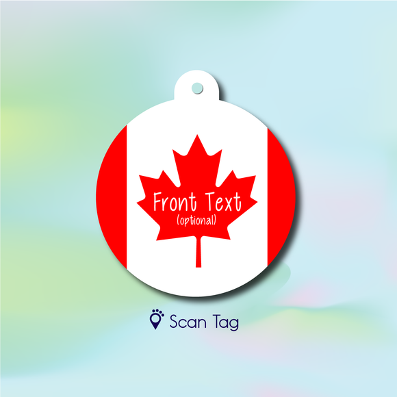 Canada Flag - Pet ID Tag
