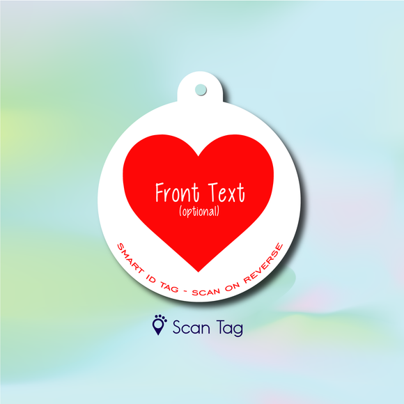 Heart - Pet ID Tag