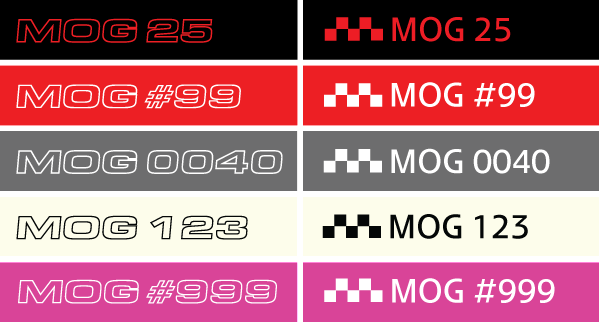 MOG Numbered Decal
