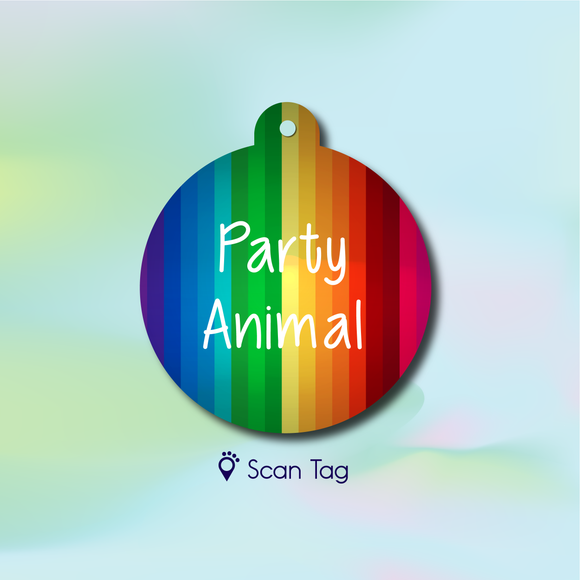 Party Animal - Pet ID Tag