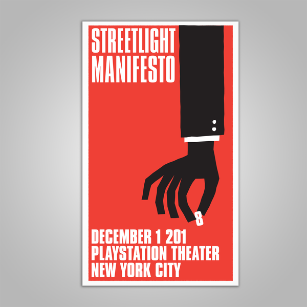 "Streetlight Manifesto ""Everything Goes Numb Tour NYC"" Screen Print Poster (2018)"