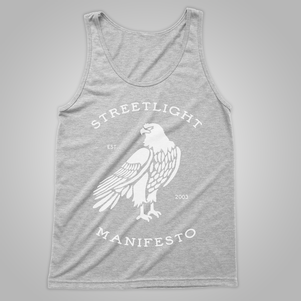 "Streetlight Manifesto ""Eagle"" Tank (Heather Grey)"