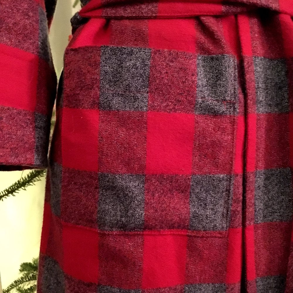 Mammoth Flannel Check- Red and Grey - Lakes Makerie - Minneapolis, MN