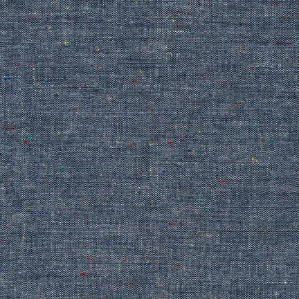 Chambray Union- Indigo with Multicolored Motes - Lakes Makerie - Minneapolis, MN
