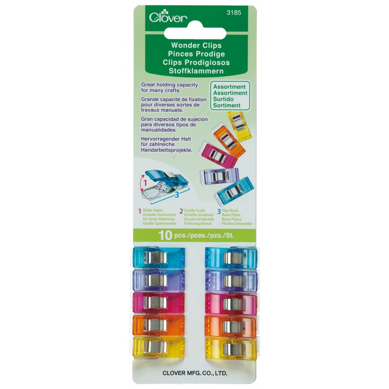 Wonder Clips, bright colors, set of 10 - Lakes Makerie - Minneapolis, MN
