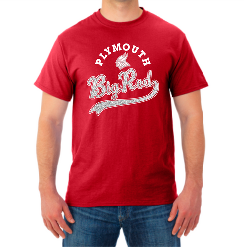 Big Red Sparkle Tail Tee Shirt