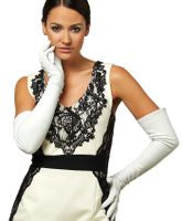 MONOGRAM LEATHER GLOVES OPERA LENGTH