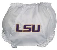 EMBROIDERED LSU DIAPER COVER