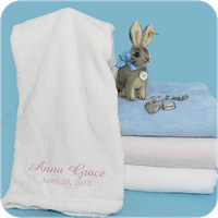 MONOGRAM EMBROIDERED SOFT TOUCH BLANKET