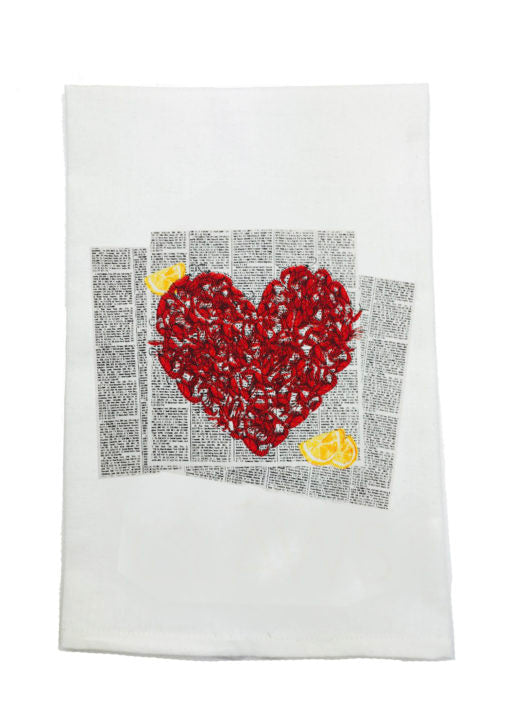 CRAWFISH LOVE KITCHEN TOWEL