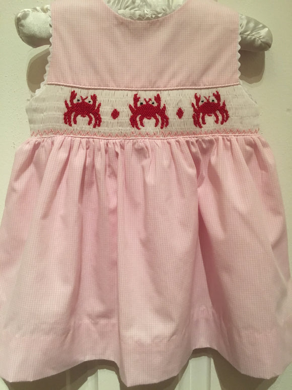 SMOCK CHECK SUMMER DRESS BABY CRABS