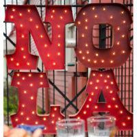LIGHTED NOLA (set of 4)