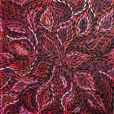 Bush Medicine Leaves by Rosemary Pitjara 60 x 60cm