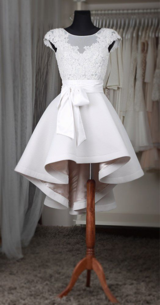 Informal High Low Wedding Dress - daisystyledress