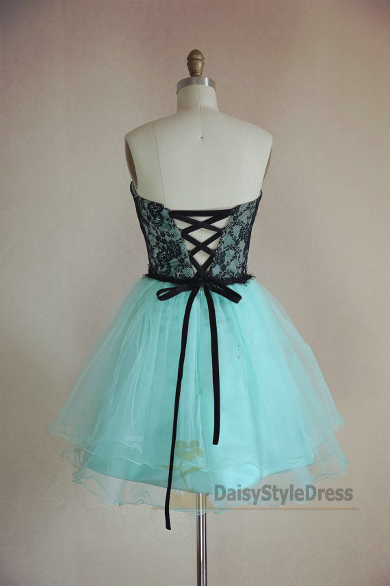 Knee Length Mint Green Vintage Homcoming Dress - daisystyledress