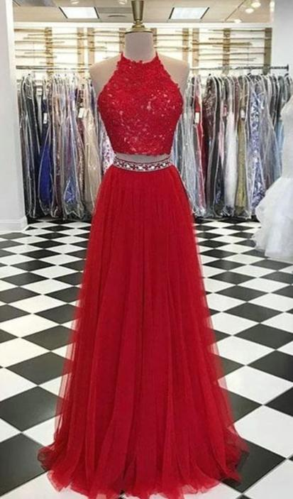 A line Two Piece Prom Dress - daisystyledress