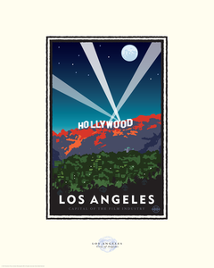 Hollywood Nights - Landmark Series California Print
