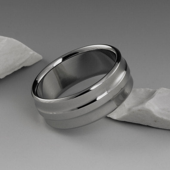 Unique Men's Titanium Wedding Ring