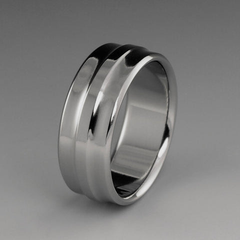 Titanium Band - Gradually Raised Center