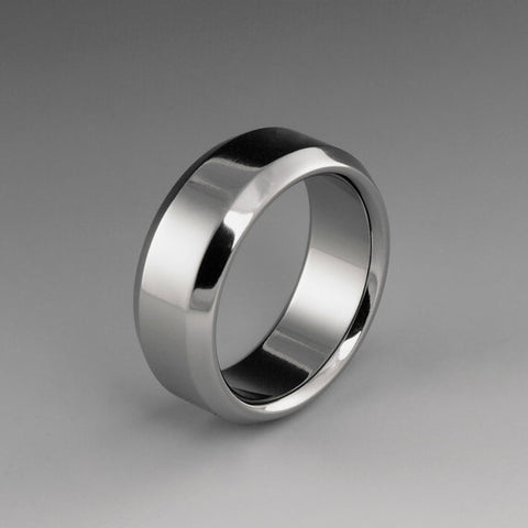 Titanium Band - Flat Profile - Beveled Edges