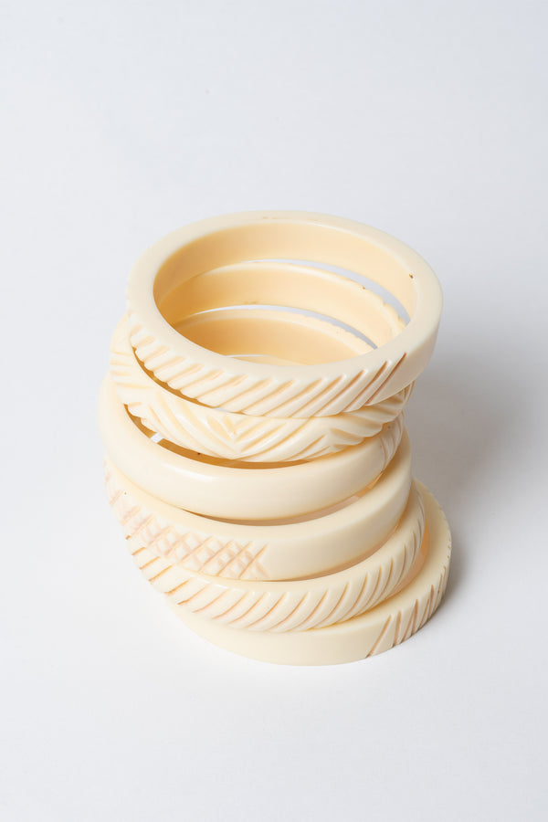 Cross Carved Bangle Stack