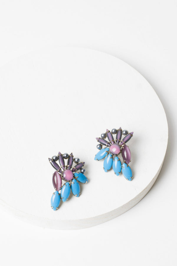De Luxe Pinwheel Earrings