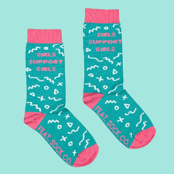 Ladies' 'Girls Support Girls' socks
