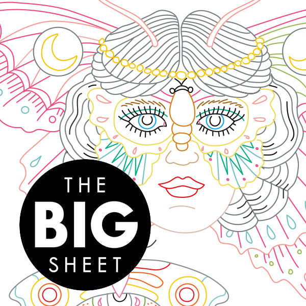 BIG SHEET Embroidery Patterns - BUTTERFLY CHART by KYLER MARTZ